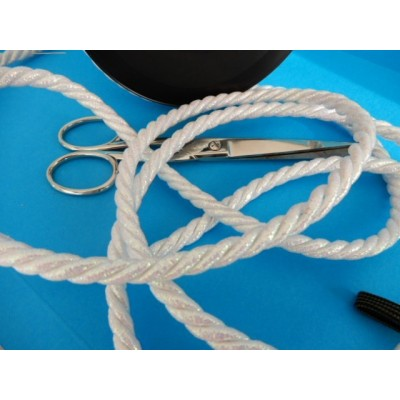 Braided mother pearl twisted cord rope cordon width mm.8 pack mt.20