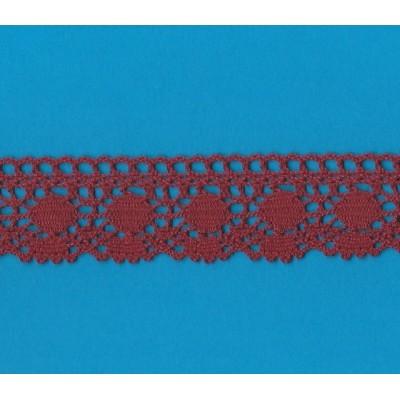 Pizzo tombolo merletto ricamo cotone altezza cm.4 pezza da mt.10 art.1316