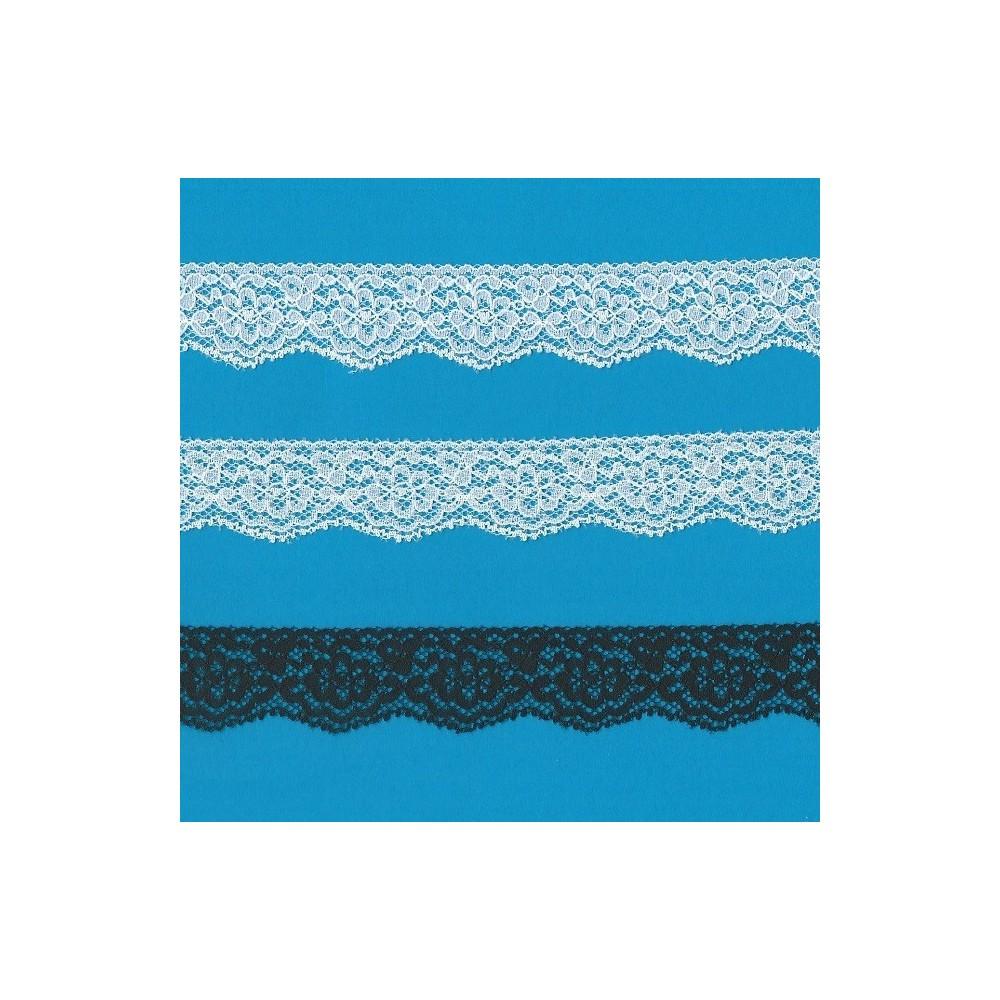 Raschel lace trim rigid width cm.3 pack mt.20 art.1202241
