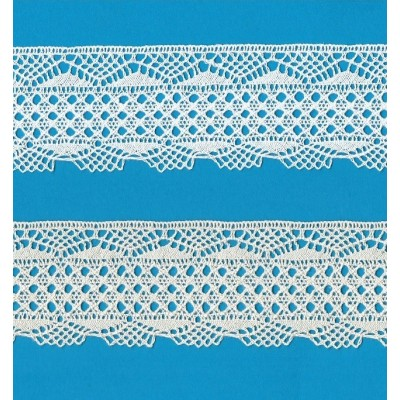 COTTON LACE RIBBON WIDE CM.5,5 PACK MT.10 ART.1560