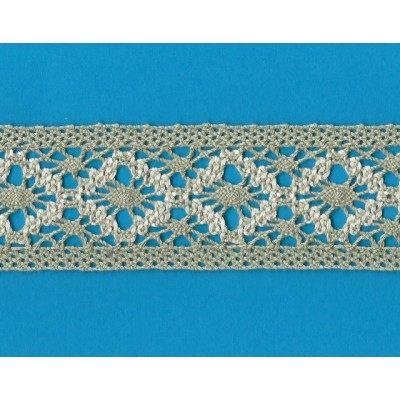 TORCHON TWO COLOR COTTON LACE CM.5 MT.10 ART.0889