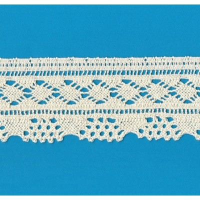 COTTON LACE RIBBON WIDE CM.6.5 PACK MT.10 ART.1509