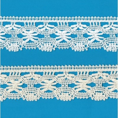 COTTON LACE RIBBON WIDE CM.5.5 PACK MT.10 ART.1615