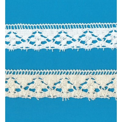 COTTON LACE RIBBON WIDE CM.3.5 PACK MT.10 ART.0953