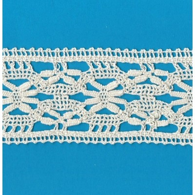 COTTON LACE RIBBON WIDE CM.6 PACK MT.10 ART.1616