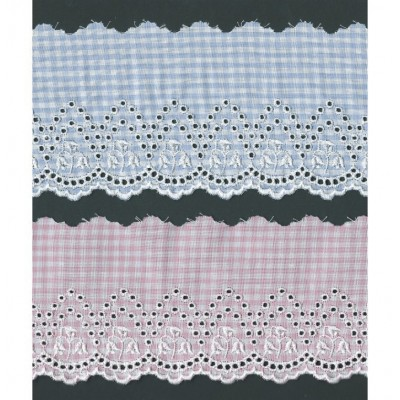 Eyelet Braided Cotton Lace width cm.8.5 pack mt.13.80 Art.SQ300