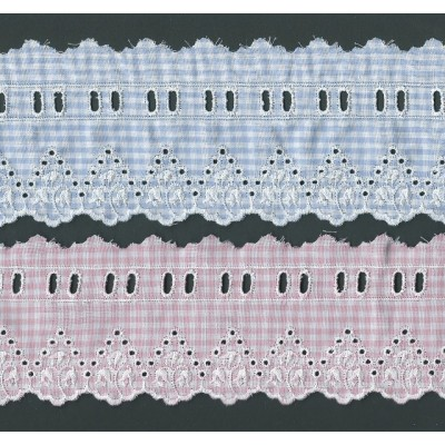 Eyelet Braided Cotton Lace width cm.8 pack mt.13.80 Art.SQ201