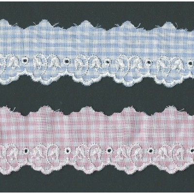 Eyelet Braided Cotton Lace width cm.4.5 pack mt.13.80 Art.SQ100