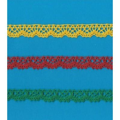 Cotton Lace Trim Cluny Bobbin torchon scalloped wide cm.1.5 pack mt.10 Art.1720