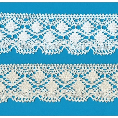 COTTON LACE RIBBON WIDE CM.5 PACK MT.10 ART.0407