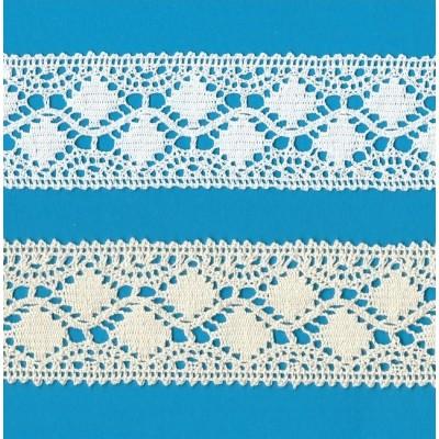 PIZZO COTONE MERLETTO TRAMEZZO ALTEZZA CM.4.5 CONFEZIONE MT.10 ART.0406