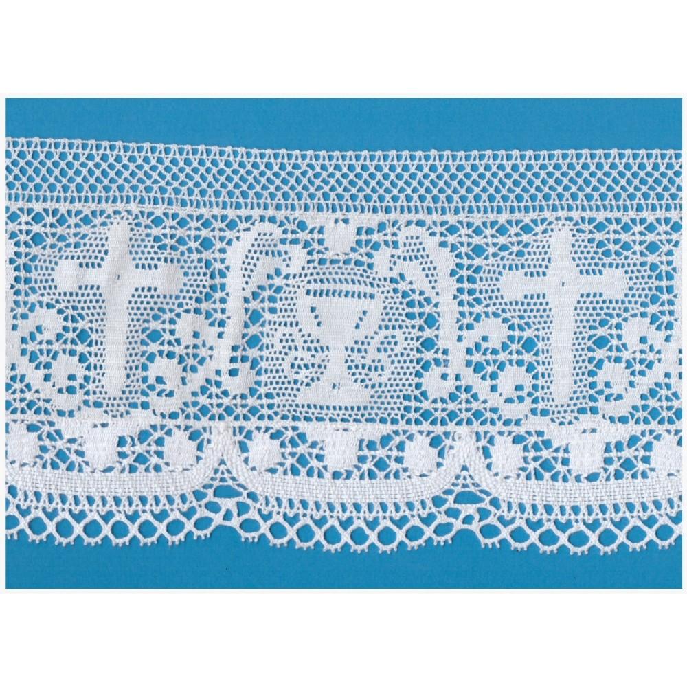 dentelle religieux coton hauteur cm.14 paquet mt.10 art.1707