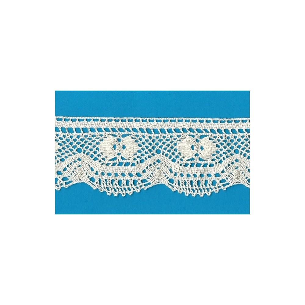 Cotton Lace Trim Cluny Torchon width cm.6.5 pack mt.10 Art.1769