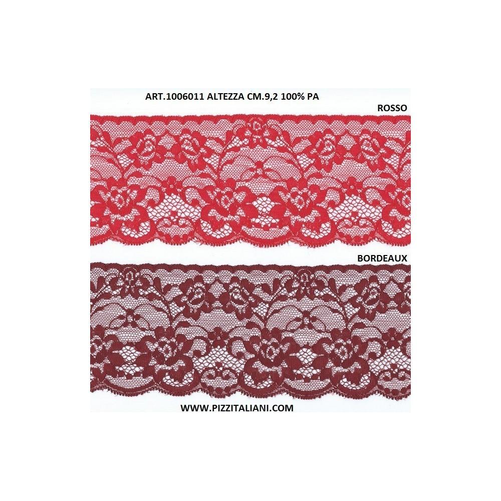 Raschel lace trim width cm.9.2 pack mt.20 art.1006011