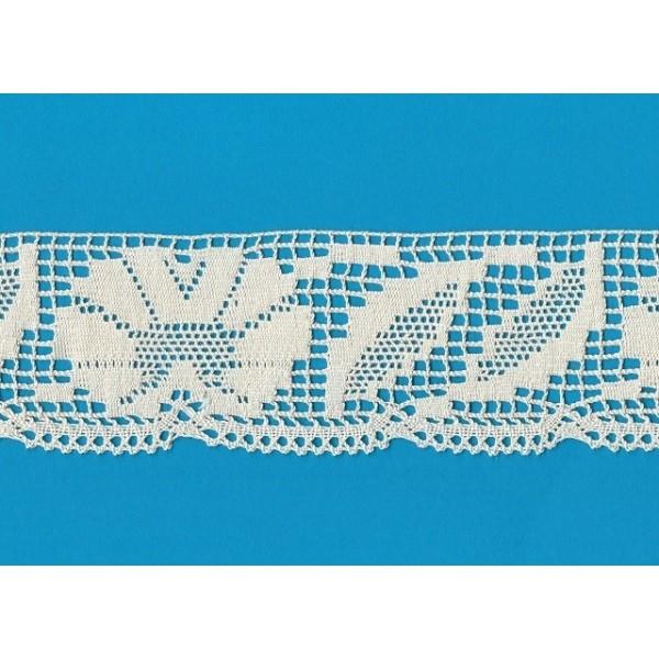 PIZZO COTONE MERLETTO SMERLO ALTEZZA CM.7 CONFEZIONE MT.10 ART.0349