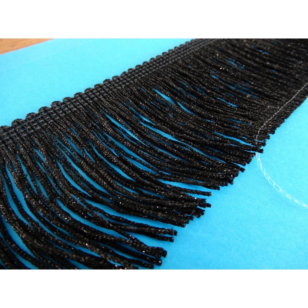 Black lurex trimmings trim width cm.7.5 pack mt.10