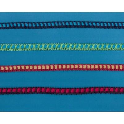 Pizzo merletto tramezzo elastico tombolo altezza cm.1.4 pezza mt.10