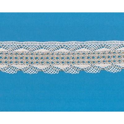 DENTELLE COTON LUREX RUBAN CM.5 MT.10 ART.1560ME1
