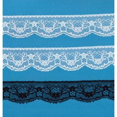 Raschel lace trim width cm.3.5 pack mt.20 art.1005371