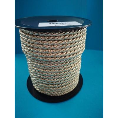 Cordon trenzado oro cuerda altura mm.6 paquete mt.25