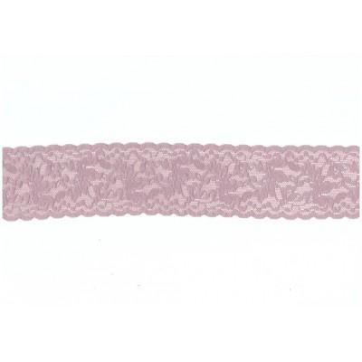 Pizzo elasticizzato merletto ricamo valenciennes altezza cm.6 confezione mt.20