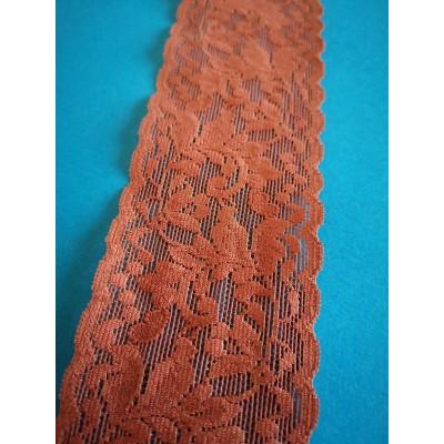Encaje de nylon y coton elastico altura cm.6 paquete mt.20