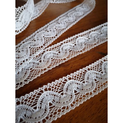 Cotton Lace Trim Edge Ribbon White cm.3 mt.10 Art.1416