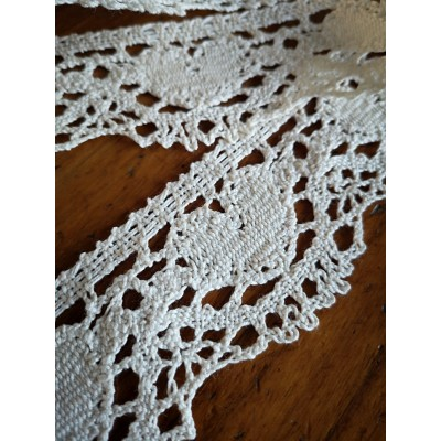 Cotton Lace Ribbon Heart Scalloped width cm.5 mt.10 Art.1802