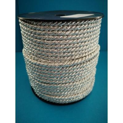 Cordoncino cordone argento diametro mm.5 confezione mt.50