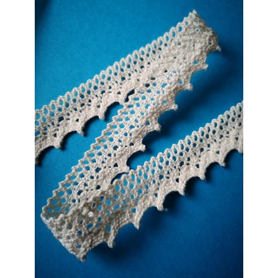 Cotton Lace Trim Scalloped cm.2 mt.10 Art.1548