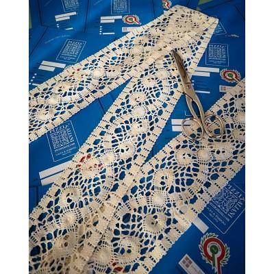Dentelle Coton Creme largeur cm.8 mt.10 pour Bricolage, Couture, Decoration, Art Creatif, Emballage, Scrapbooking Art.1699