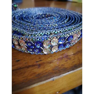 Passementerie ruban avec perles largeur cm.2 paquet mt.2.80