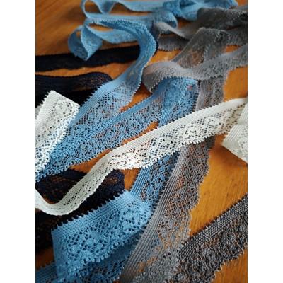 Elastic Raschel Lace Trim Scalloped Width cm.1.5 Pack mt.20