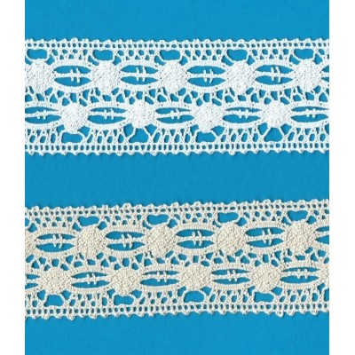 Dentelle Coton largeur cm.4.5 mt.10 pour Bricolage, Couture, Decoration, Art Creatif, Emballage, Scrapbooking Art.0603