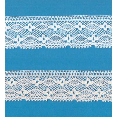Encaje Algodon Beige altura cm.4 mt.10 para Costura, Manualidades, Decoracion, Scrapbooking, Art.1294