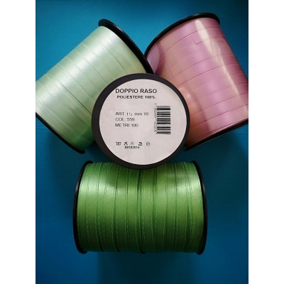 Double Satin Ribbon wide mm.10 pack mt.100