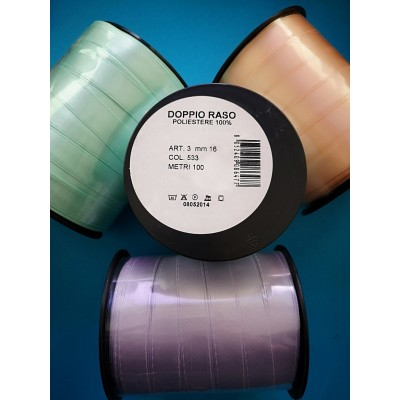 Double Satin Ribbon wide mm.16 pack mt.100