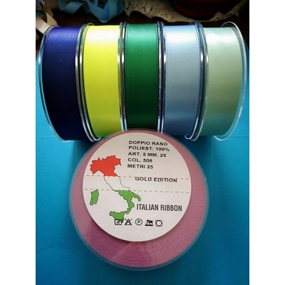 Double Satin Ribbon wide mm.25 pack mt.25
