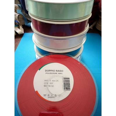 Double Satin Ribbon wide mm.25 pack mt.50