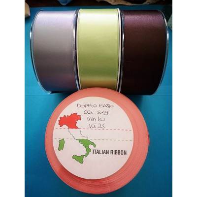 Double Satin Ribbon wide mm.40 pack mt.25