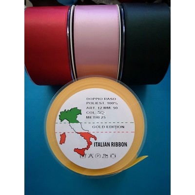 Double Satin Ribbon wide mm.50 pack mt.25