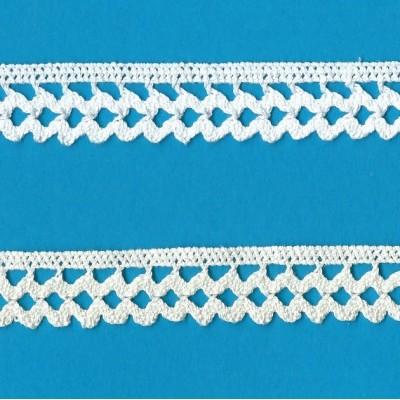 Dentelle Coton largeur cm.2 mt.10 pour Bricolage, Couture, Decoration, Art Creatif, Emballage, Scrapbooking Art.0905