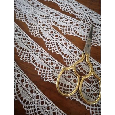 Encaje Algodon Blanco Bordado altura cm.2.5 mt.10 para Costura, Manualidades, Decoracion, Scrapbooking Art.1115