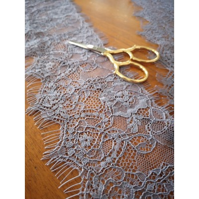 Grey lace ribbon valencienne width cm.9 pack mt.20