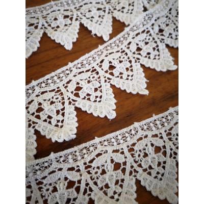 Macrame Cotton Lace White width cm.4.5 pack MT.5.80