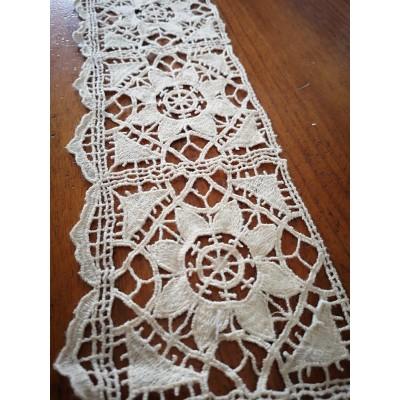 Macrame Cotton Lace Ivory width cm.10 pack MT.5.20
