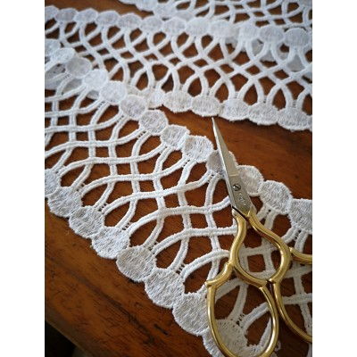 Macrame Cotton Lace White width cm.6 pack MT.9.40