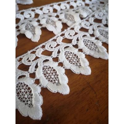 Macrame Cotton Lace White width cm.5.5 pack MT.6.40