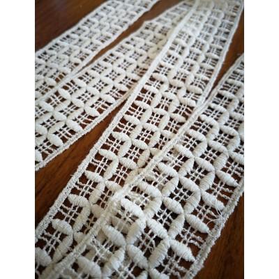 Macrame Cotton Lace Ivory width cm.4 pack MT.27.50