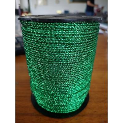 Cordoncino cordone lurex verde diametro mm.2 confezione mt.100
